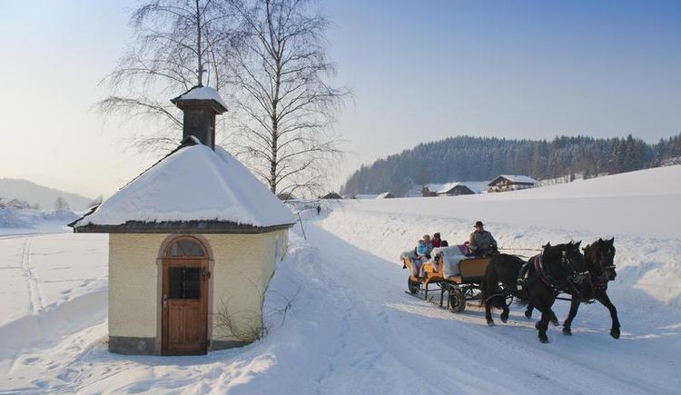 Horse-drawn sleigh rides through the winter landscape (© Fuschlsee Tourismus GmbH - Erber)