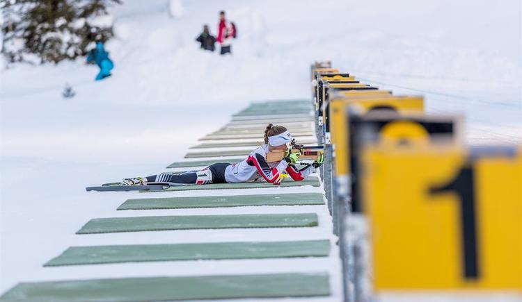 Schießen in der Biathlon Arena (© TVB Pyhrn-Priel/Hinterramskogler)
