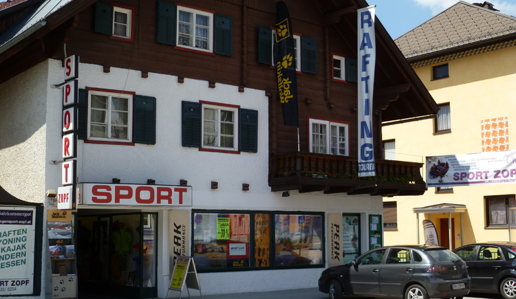The Sport Shop Zopf in the town Center of Bad Goisern.