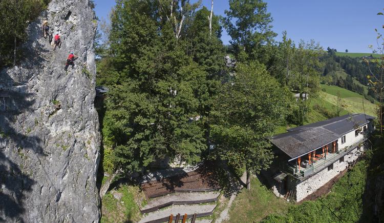 Schwedenhütte im Camp Sibley - Laussa (© Davit Scheutz)
