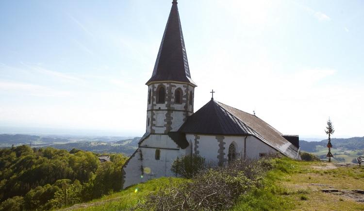 Wallfahrtskirche mit Luftgselchtem Pfarrer