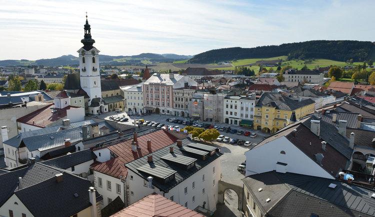 Freistädter Innenstadt - Ausblick vom Bergfried (© OÖ Tourismus/Röbl)