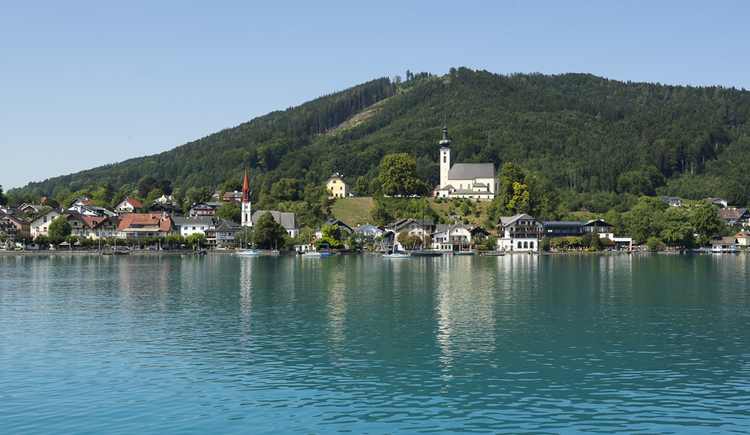 Ortsansicht Ort Attersee am Attersee (© Tourismusverband Attersee-Salzkammergut, Klaus Costadedoi)