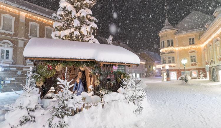 Marktplatz Windischgarsten im Winter bei Nacht (© TVB Pyhrn-Priel/Daniel Hinterramskogler)
