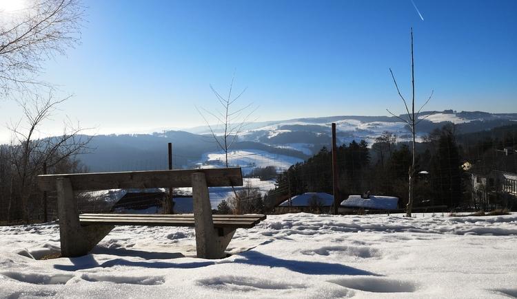 Ausblick in Wintersdorf (© Tanja Mittermair)