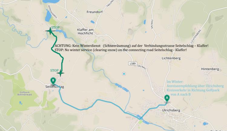 Anreise im Winter über Ulrichsberg (© by Gästehaus