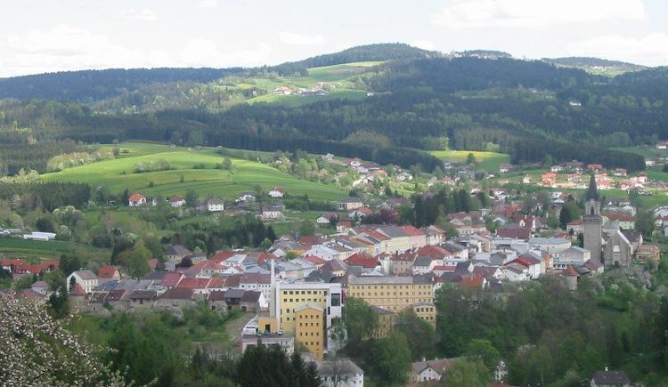 Ort Haslach an der Mühl aus der Luft. (© Ferienregion Böhmerwald)