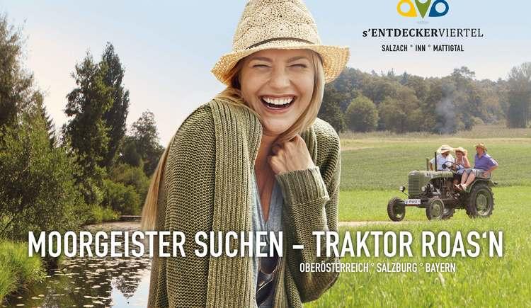 Moorgeister suchen - Traktor roasn. (© TVEV)