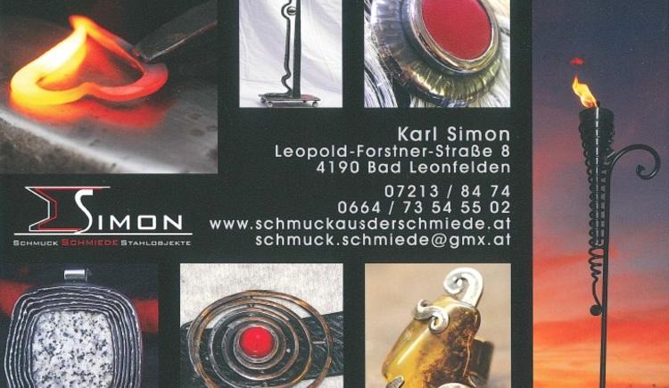 Schmuck Schmiede Stahlobjekte Karl Simon Bad Leonfelden