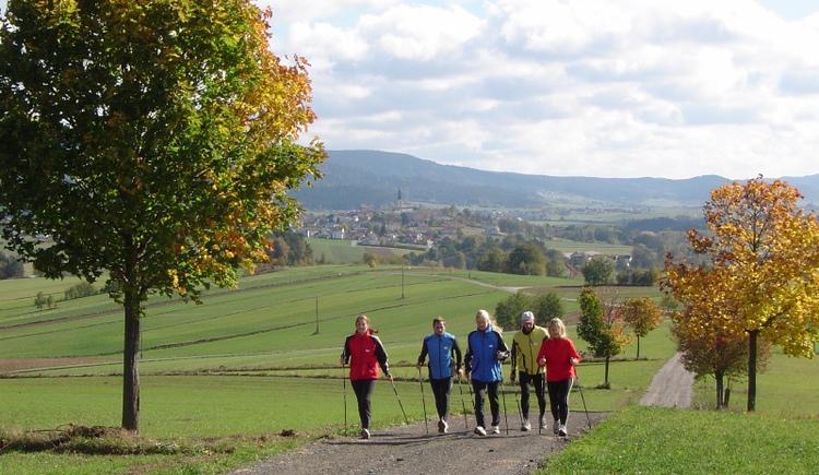 Nordic Walking im Nordic Fitness Park Böhmerwald! (© Ferienregion Böhmerwald)