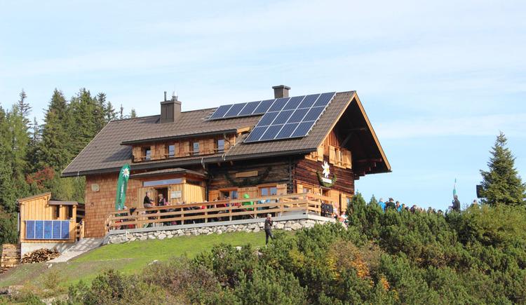 Die Goisererhütte am Kalmberg in Bad Goisern, unweit des Kalmberg-Indianer