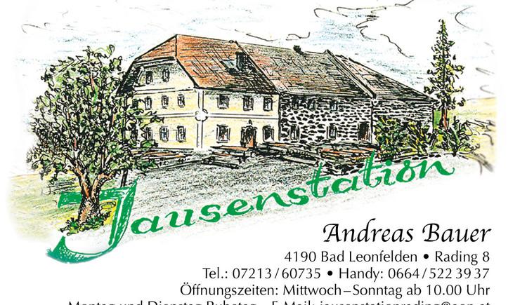 Visitenkarte Gasthaus Rading (© Gasthaus Rading Schanzstüberl)