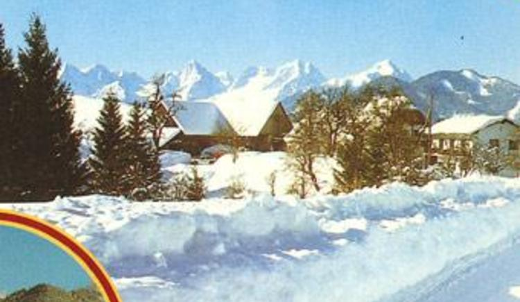 Unser Haus im Winter (© Almhof Wurbauer)