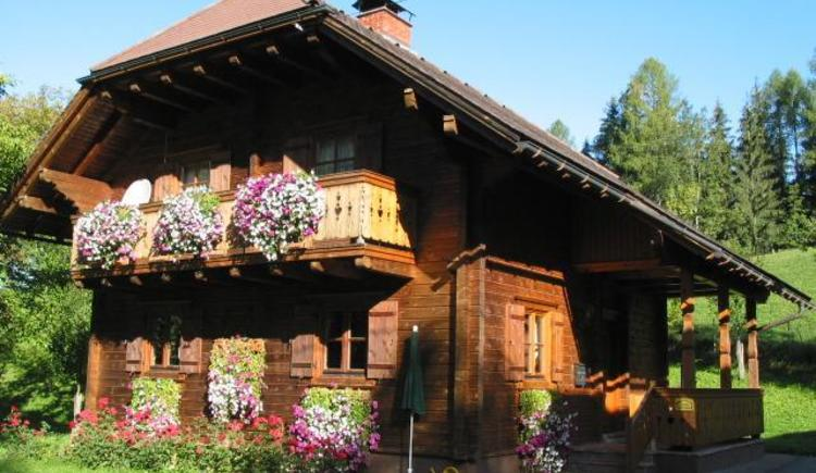 Bio-Blockhaus Koglerhütte im Sommer