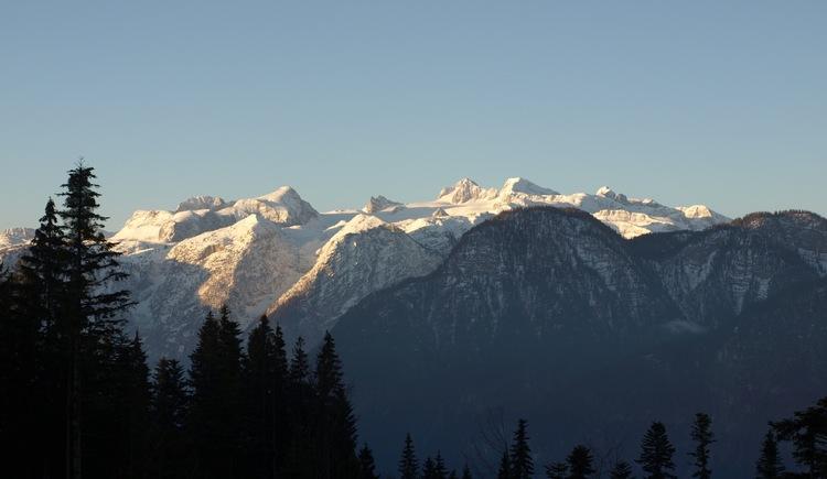 Panoramablick auf das Dachsteingebirge. (© Pomberger)