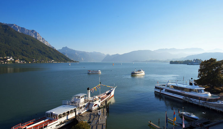 Der Hafen von Gmunden am Traunsee im Salzkammergut. (© MTV-Ferienregion)