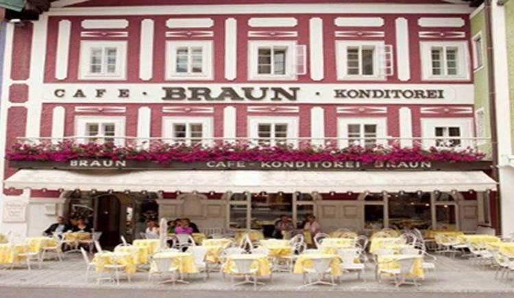 Blick auf das Café Braun. (© www.mondsee.at)