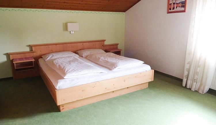 double bed, window