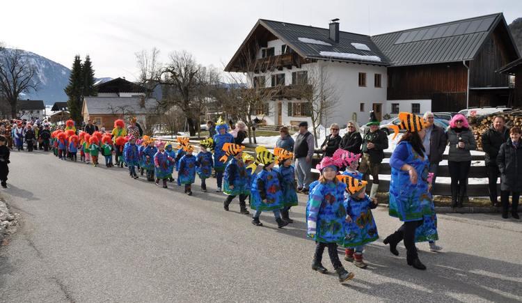 Faschingsumzug in Rußbach. (© SV St. Wolfgang)