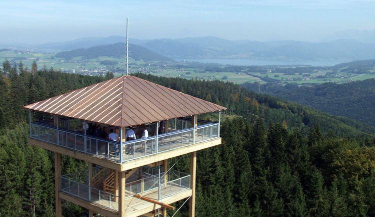 Attergauer Aussichtsturm, Gebirgspanoramablick