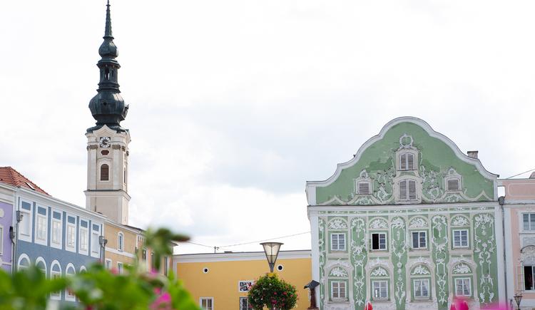 Flohmarkt in Obernberg am Inn. (© Innviertel-Tourismus / FotoloungeBlende8)