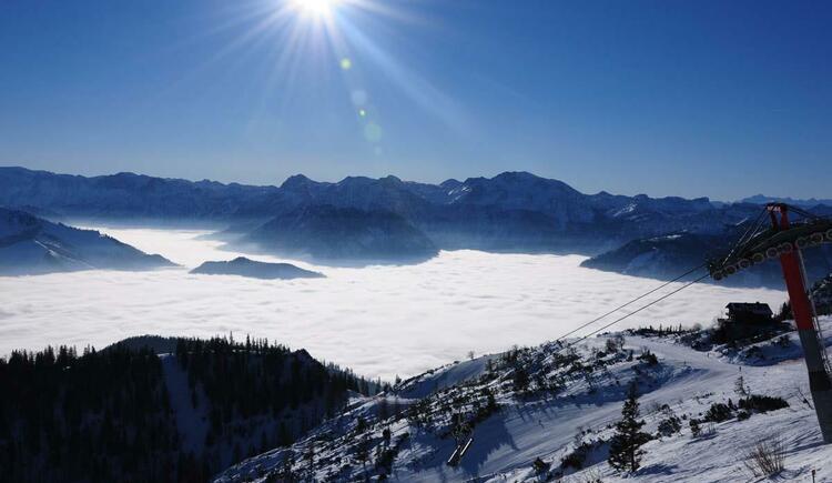 Aussicht auf das Tote Gebirge im Winter (© Gerhard Spengler)