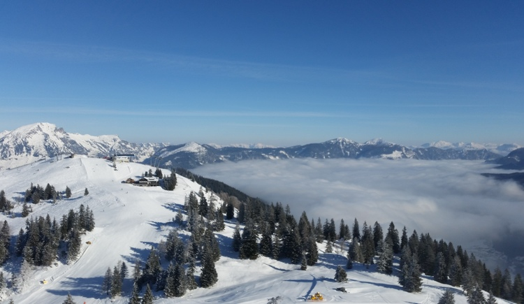 Blick über die Skiregion