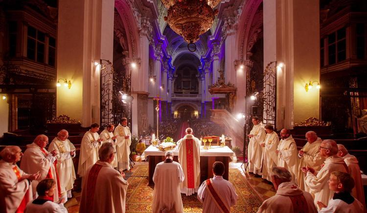 Stiftskirche innen von der Absis aus (© Stift Kremsmünster)