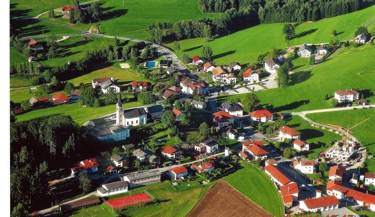 Schwarzenberg aus der Luft (© Gemeinde Schwarzenberg)