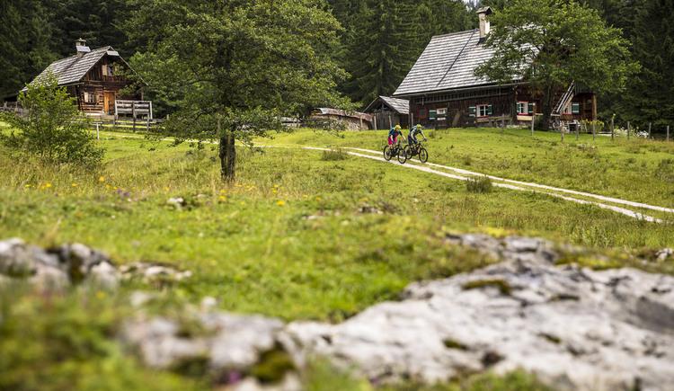 Biken durch die Almen des Salzkammergutes. (© WOM Medien GmbH, Andreas Meyer)