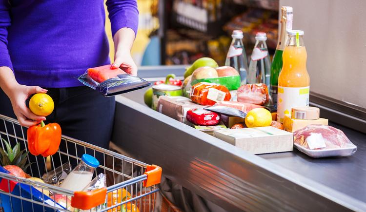Einkaufen, Lebensmittel, Kassa