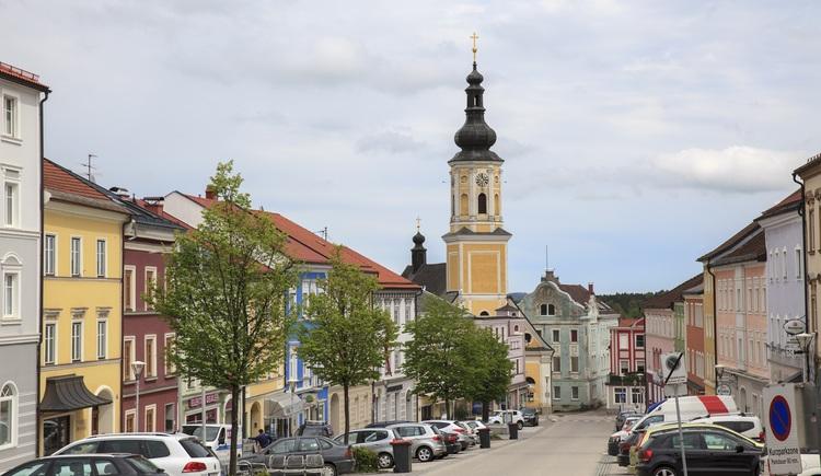 Ortsplatz. (© Tourismusverband Urlaubsregion Vitalwelt Bad Schallerbach / Mühlleitner)