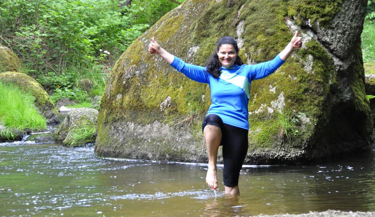 Diplomierte Waldluftbademeisterin Irene Branstetter (© Irene Branstetter)