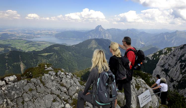 Beim Klettersteig Alberfeldkogel (© Ferienregion Traunsee)