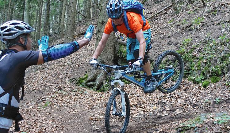Auch bei Level 3 gilt: nur wer sein Rad angepasst ans Gelände beherrscht, hat Spaß an der Sache!