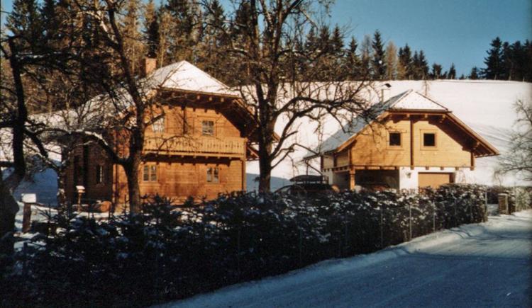 Bio-Blockhaus Koglerhütte im Winter