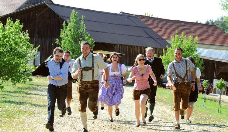 Gruppenausflug mit Bauernolympiade am Loryhof (© Loryhof)