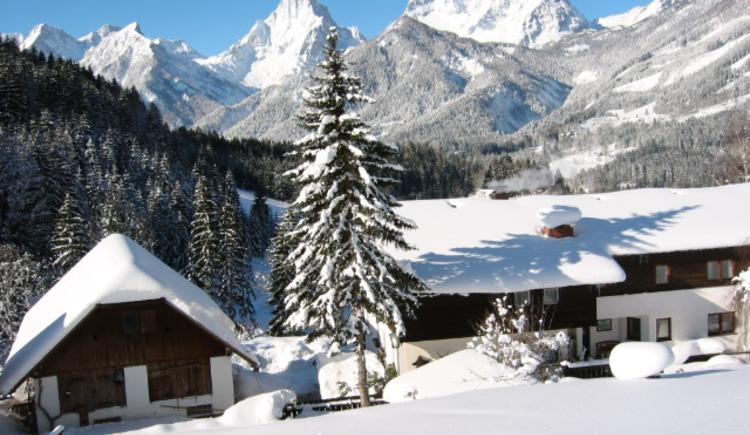 Winter Haus hinten (© Szarvas)