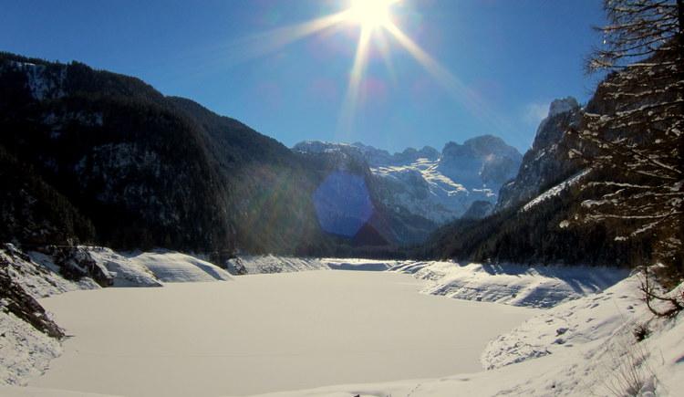 der Gosausee im Winter. (© Bleisch)