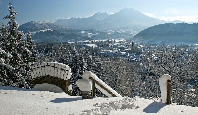 Kalvarienberg Ausblick winterlich (© TVB Pyhrn-Priel/Bruno Sulzbacher)