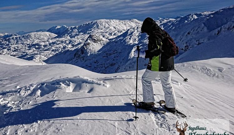 Hochgebirgs-Schneeschuhtour im Dachstein-Massif. (© Ulrike Hahnel)