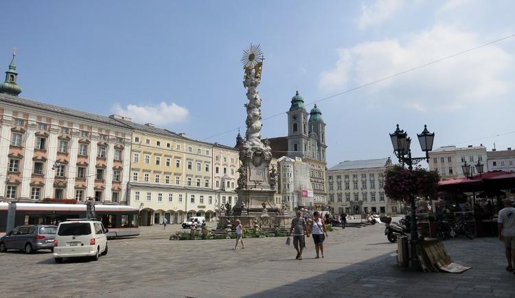 Linz - Hauptplatz (© WGD Donau Oberösterreich Tourismus GmbH/Kranzmayr)