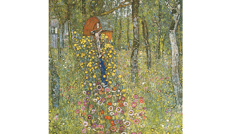Bauerngarten mit Kruzifix 1912
