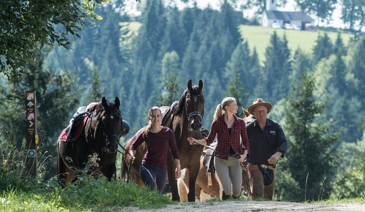 Wanderreiten im Pferdereich Mühlviertler Alm (© Pferdereich Mühlviertler Alm)