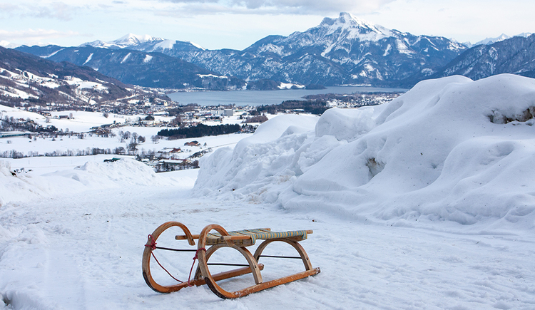 Tobogganing with a perfect view (© TVB Mondsee-Irrsee)