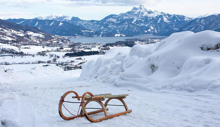 sledge. (© TVB Mondsee-Irrsee)