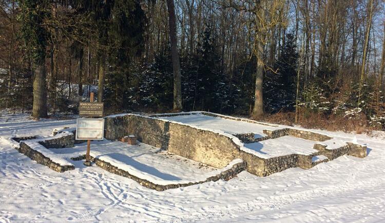 Ausgrabungsstätte Villa Rustica im Winter (© Marktgemeinde Bad Wimsbach - Neydharting)
