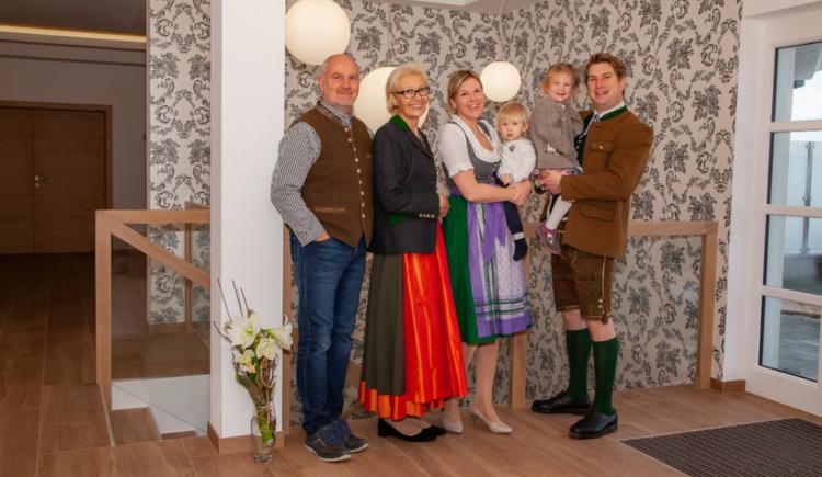 Bild Gastgeberfamilie Soriat- Sturm im Genusshotel Irmgard im Salzkammergut, Attersee- Attergau Region. (© Soriat- Sturm; Fotograf Linda Mayr)