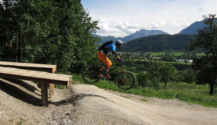 Dieses Fahrtechniktraining ist für Mountainbiker die gerne auf eigens dafür gebaute Singletails und im Bikepark unterwegs sind.
