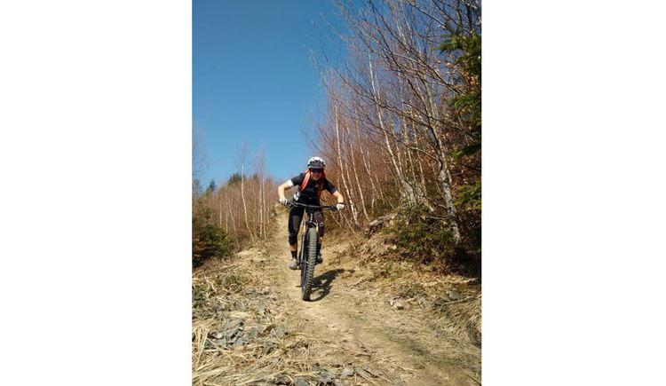 Montainbike Tour Bergab mit speed %c2%a9 Bettina Ratzinger (© Bettina Ratzinger)